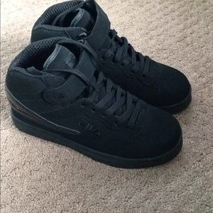 Fila Shoes | Fila High Top All Black